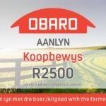 Wen 'n Obaro-Aanlyn koopbewys ter waarde van R2500!