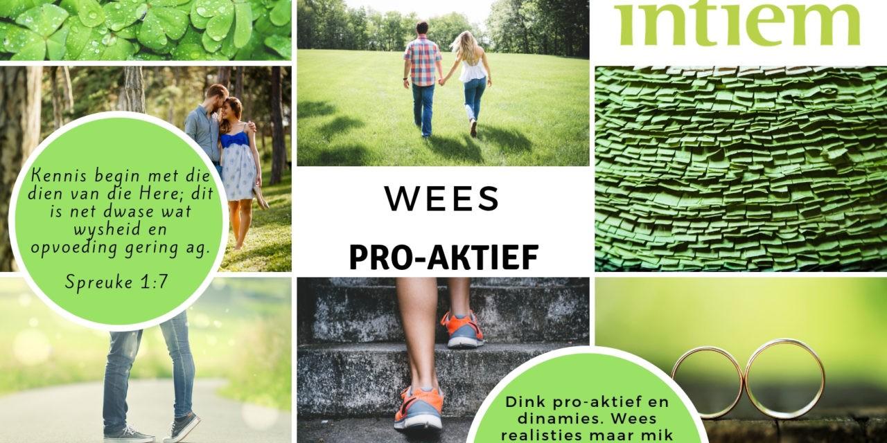 Maand Tema: Wees Pro-aktief!