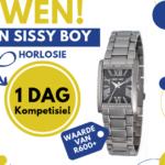 1 DAG kompetisie: Wen 'n Sissy Boy horlosie wat oor R600 werd is! – Kompetisie reeds gesluit!