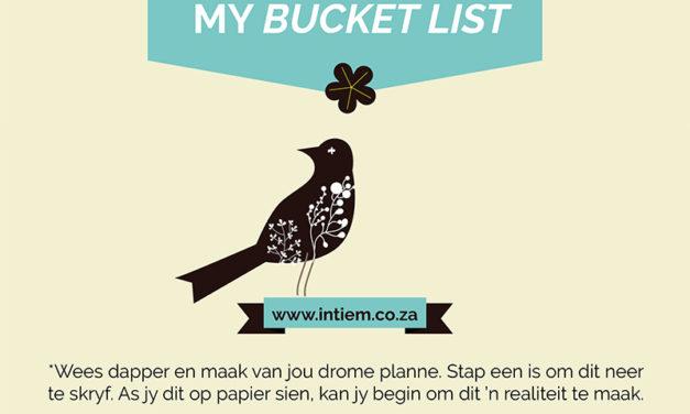 GRATIS Bucket List vir die vakansie!