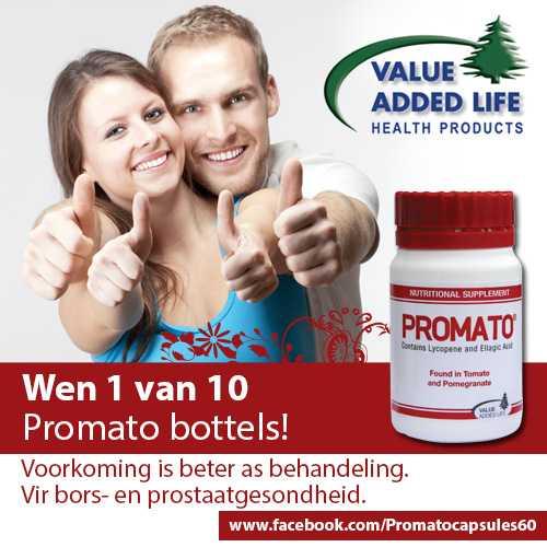 "Wen 1 van 10 Bottels Promato PLUS 1 ekstra ""Value Added Life"" produk! – Kompetisie reeds gesluit"