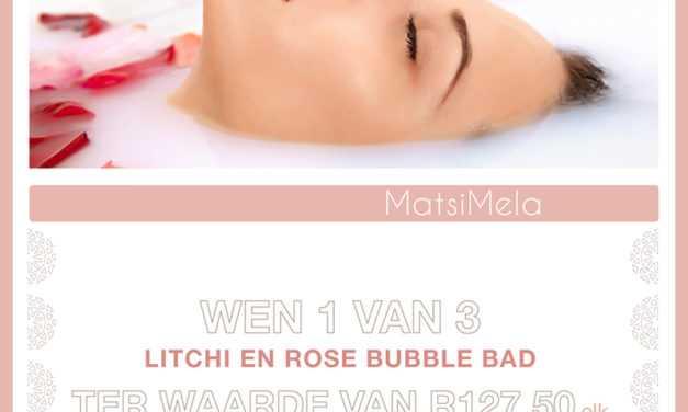 Wen 1 van 3 Matsimela Home Spa Lietsjie en Roos Valentynsdag borrelbad! – Kompetisie reeds gesluit