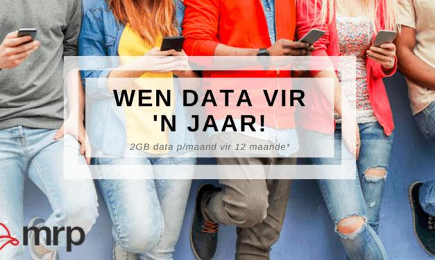 Wen 12 maande se selfoon data met komplimente van MRP!