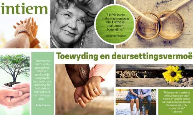 Maand Tema: Toewyding & Deursettingsvermoë