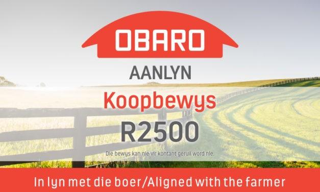 Wen 'n Obaro-Aanlyn koopbewys ter waarde van R2500! – Kompetisie reeds gesluit