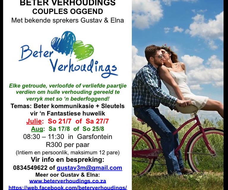Wen 'n kaartjie na Beter Verhoudings se couple oggend! – Kompetisie reeds gesluit!