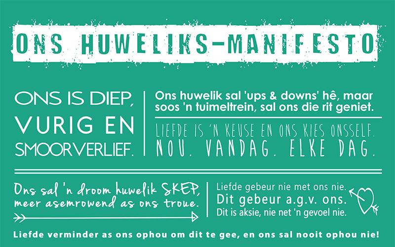 GRATIS Huweliks-manifesto