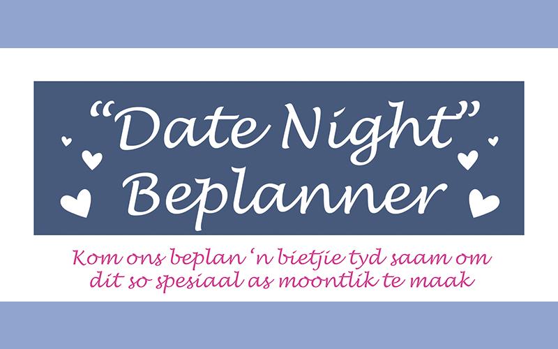 """GRATIS: """"Date Night"""" Beplanner"""