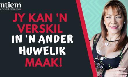 Jy Kan 'n Verskil In 'n Ander Huwelik Maak!