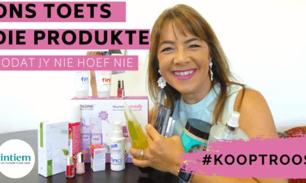 [FACEBOOK LIVE] #KoopTroos Nuwe Produkte // Skoonheidsprodukte // Gesondheidsprodukte