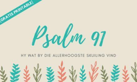 Gratis Printable: Spreek Psalm 91 oor jou huwelik en gesin